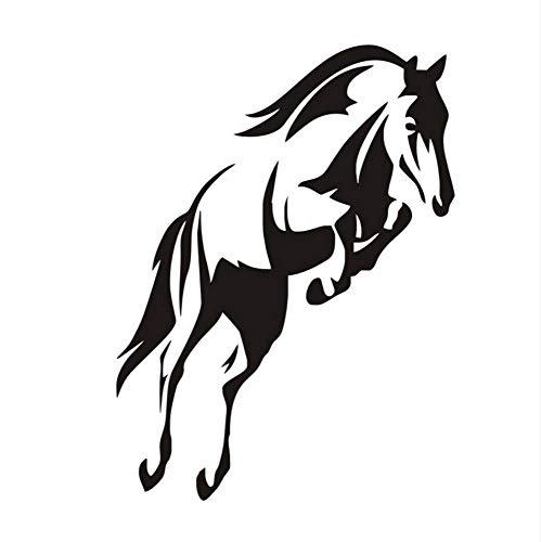 Hermoso caballo saltando pegatinas de pared para salas de estar vivero decoración de pared vinilo extraíble arte de la pared pegatinas decoración del hogar 59x44 cm