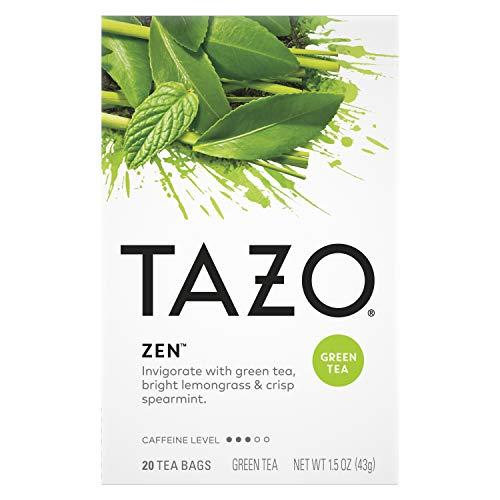 Tazo Tea Bags For an Calming Beverage Green Tea Moderately Caffeinated Tea 20 Tea Bags