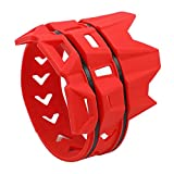 TOOGOO Cubierta Silenciador Anillo Anti-Plancha de Moto Cubierta Protectora Anillo Aislante Adecuado para Todoterreno Buggy Piezas (Rojo)
