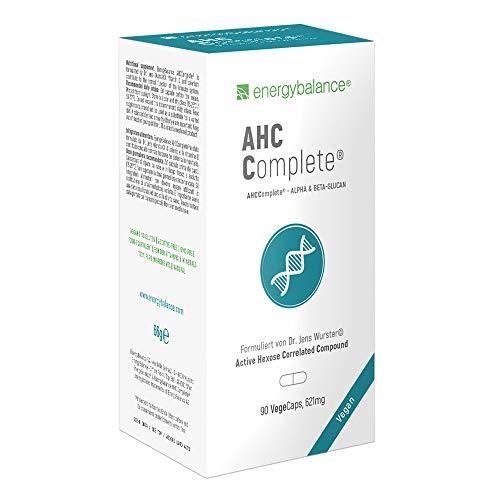 EnergyBalance AHCComplete Immune Support - Kapseln mit Alpha & Beta Glukanen, Vitaminen, Mineralien - Stärkung Abwehrkräfte - Vegan - 90 VegeCaps à 621 mg