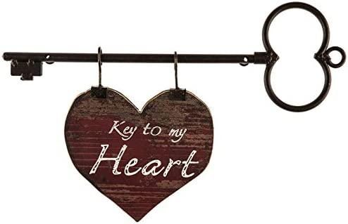 Key to My Heart Decor Metal Wood Fees free Wall Albuquerque Mall