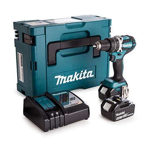 Makita DDF484RT3J drill Negro, Azul, Plata 2000 RPM 1,8 kg - Taladro eléctrico (2000 RPM, 1,3 cm, 3,8 cm, 54 Nm, 30 Nm, 2,5 m/s²)