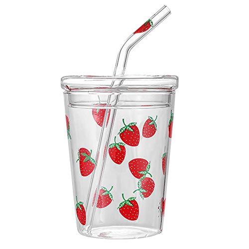 Bicchieri con coperchi e cannucce sfusi, bicchiere trasparente da 10,5 once per bere succo di frutta
