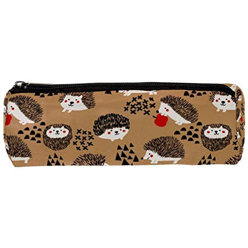 Hedgehog - Estuche para lápices de gran capacidad, para oficina, escuela, almacenamiento grande, 19 x 7,5 x 3,8 cm