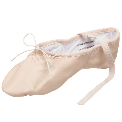 Capezio womens Leather Cobra Ballet dance shoes, Light Pink, 6.5 US