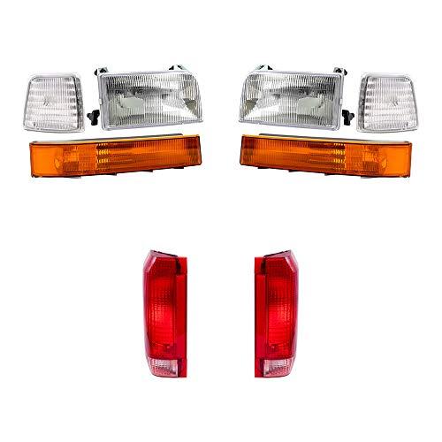 Brock Replacement 8 Piece Lights Set Headlights Tail Lights and Signal Lights...