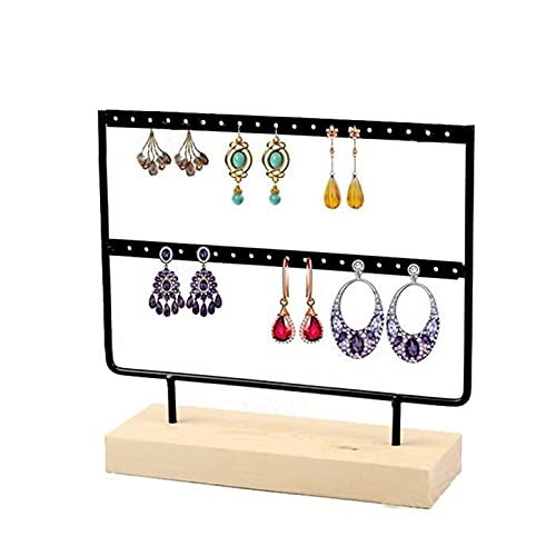 Soporte de joyería organizador de joyas soportes de exhibición para collar sostenedor de pendientes, soporte de exhibición de joyería organizador de escritorio de metal