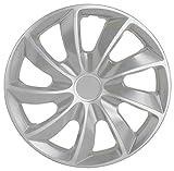 """SG 4 Piece Hubcaps, Wheel Cover, Wheel Trim, Silver, 16"""" (SG-5084-B-16)"""