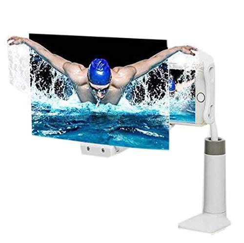 Keyboards Splint Type 12'Bildschirmlupe Für Mobiltelefone, 3D-HD-Movie-Bildschirmverstärker Für Mobiltelefone, 360 Rotating Lazy Phone Holder, Für Filme/Videos/Spiele(Color:B,Size:12inch-60cm)