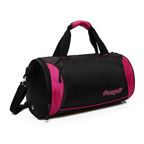 Bolsa de gimnasio para gimnasio, yoga, resistente al agua, para deportes, gimnasio, viaje, paquete de entrenamiento de fitness (color rosa, tamaño: S)