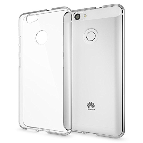 NALIA Handyhülle kompatibel mit Huawei Nova, Slim Silikon Motiv Hülle Cover Hülle Crystal Schutzhülle Dünn Durchsichtig, Etui Handy-Tasche Handy-Schale Back-Cover Smart-Phone Bumper - Transparent