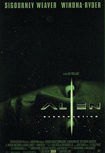 Close Up Póster Alien Resurrection (68cm x 98cm) + 2 Marcos Negros para póster con suspención