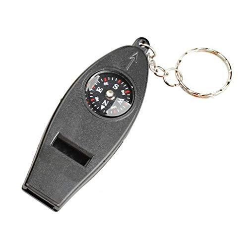Mini Lupa, BrúJula TermóMetro Lupa BrúJula Cuatro En Uno, PortáTil, Llavero, Kit De Emergencia De Supervivencia Llavero