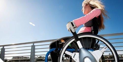 Nudrive Evo - Sofort Rollstuhl Selbst Antrieb-Upgrade (Silber Alu & Walliser Grau, 20