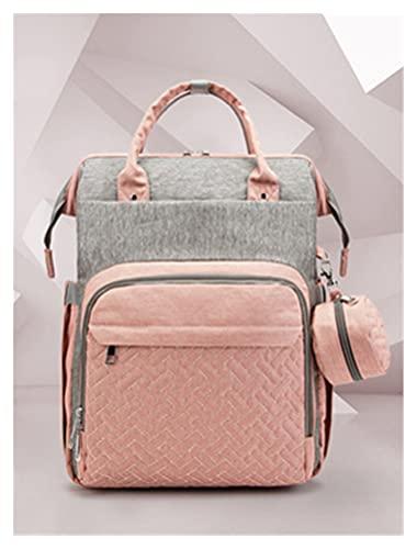 BYSFUN Mochila de Bolsa de pañales, Bolso de Momia Plegable portátil de Viaje Multifuncional (Color : Gray, Size : 31 * 13 * 43cm)