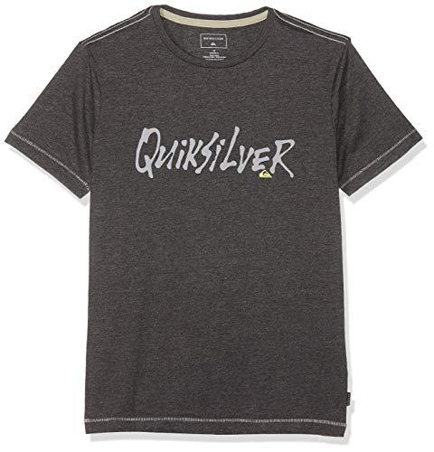 Quiksilver Scriptural T-Shirt Garçon, Charcoal Heather, FR : S (Taille Fabricant : S/10)