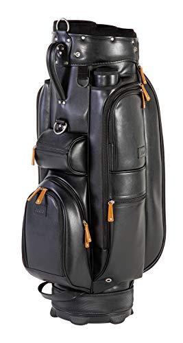 JuCad Bag Sydney I Golftasche I Tragegriff I Designtasche I Außentaschen I Kühlfach I Farbe Schwarz-Braun