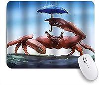 PATINISAマウスパッド カニモンスター傘水彩雨おかしい ゲーミング オフィス最適 高級感 おしゃれ 防水 耐久性が良い 滑り止めゴム底 ゲーミングなど適用 マウス 用ノートブックコンピュータマウスマット