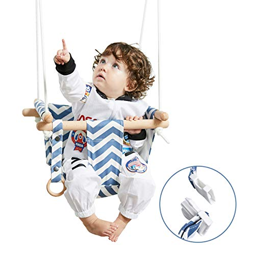 HAPPY PIE PLAY&ADVENTURE Secure Canvas Hanging Swing Seat Indoor Outdoor Hammock Toy for Toddler
