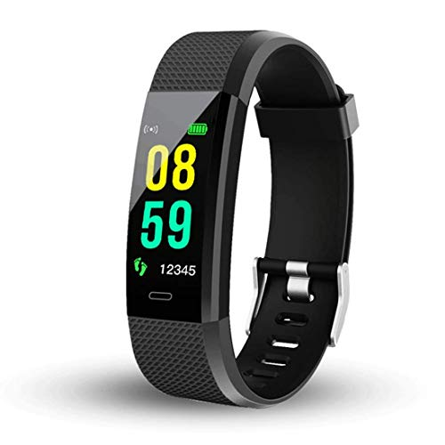Tuloo I D 115 Plus Bluetooth Fitness Band Smart Watch Tracker with Heart Rate Sensor Activity Tracker Waterproof Body Functions Like Steps and Calorie Counter, Blood Pressure, OLED (Standard)