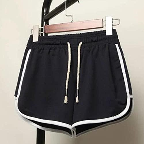 BUXIANGGAN Shorts Pantalones Cortos Mujer Pantalones Cortos Deportivos De Cintura Alta para Mujer, Correr, Gimnasio, Entrenamiento, Fitness-Pant_Black_S
