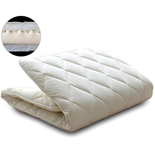 EMOOR Japanese Futon Mattress CLASSE-Plus-II (3-Layered Structure), Queen-Long (63x83x2.5in), Made in Japan