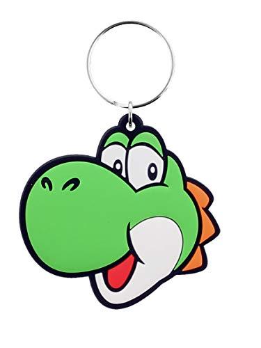 Pyramid International Unisex Super Mario (Yoshi) Gummi-Schlüsselanhänger, grün, One size