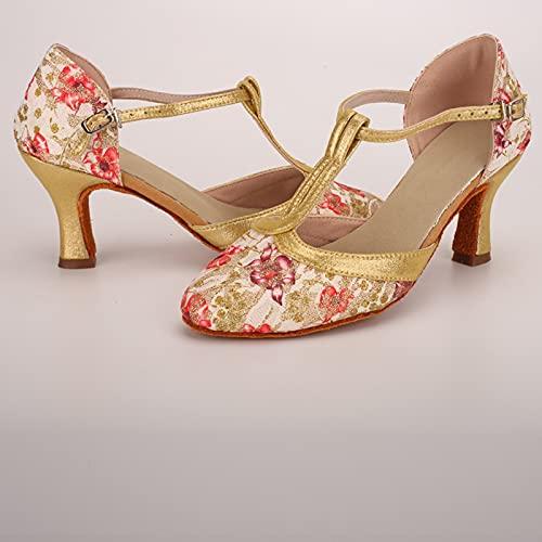 Señoras Atractivas Hebilla De Tacón Alto Zapatos De Baile Latino Sandalias Zapatos De Baile