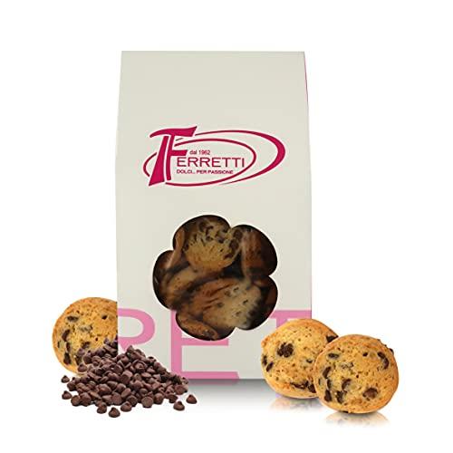 Ferretti dal 1962 Galletas Cookies Artesanales, Horneadas en Italia, Paquete de 350 Gramos
