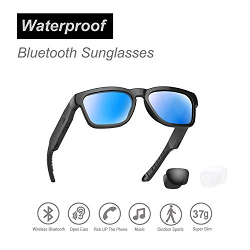Water Resistant Audio Sunglasses, Fashionable Bluetooth Sunglasses to Listen Music and Make Phone...