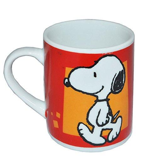 alles-meine.de GmbH Henkeltasse klein - Snoopy Peanuts - Porzellan / Keramik - Trinktasse mit Henkel Tasse / Espressotasse Becher Porzellantasse - Espresso - Tassen für Kinder Mä..