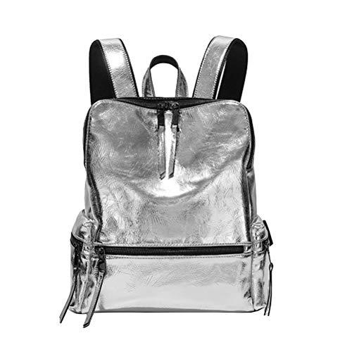 Fenical Silber rucksack mode reflektierende pu umhängetasche persönlichkeit mädchen rucksack