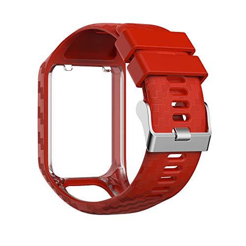 JIALONGZI vervangende horlogebandjes bandjes Silicone Gel Horlogeband Polsband Sport Armband voor TomTom Runner 2/Runner 3/Spark 3/Adventurer/Golfer 2 Sport GPS Running Smartwatch