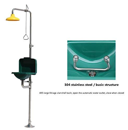 JL Traditionelle Serie Rostfreier Stahl Notfall-Augendusche Duschsystem mit großem Flip Augen- und Gesichtswaschanlage