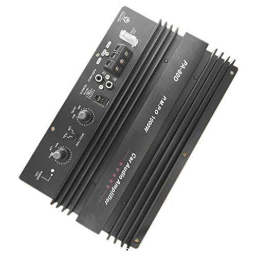 WXZQ Placa amplificadora de 12V 1000W Amplificador de Potencia de Audio Mono para automóvil Potente Amplificador de subwoofers de Graves para modificación de automóvil PA-80D Negro