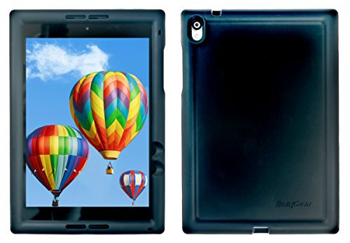 BobjGear Bobj Rugged Case for Nexus 9 Tablet Custom Fit - Patented Venting - Sound Amplification - BobjBounces Kid Friendly - 5 Year Manufacturer Warranty (Bold Black)