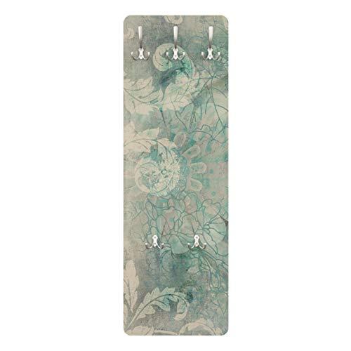 Bilderwelten Garderobe Garderobenpaneel Blumen Eisblumen Modern 139 x 46 cm