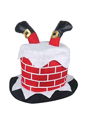 HENBRANDT W00 104 Chapeau de cheminée avec pieds de Père Noël Rouge