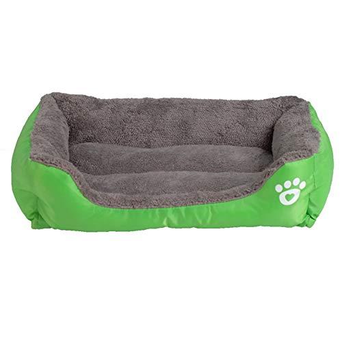 Sofá para Mascotas Camas para Perros Parte Inferior Impermeable Suave vellón Cálido Gato Cama Casa,Green,XXL
