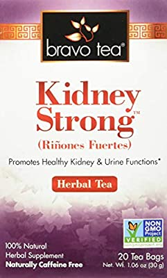 Bravo Tea, Kidney Strong Herbal Tea, Caffeine Free, 20 Tea Bags by Bravo Teas Herbs Inc