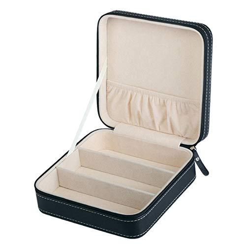 NFRADFM Caja de joyería,Caja de gafas de sol de cuero PU portátil,Caja de almacenamiento de joyas de viaje,Caja de regalo de contenedor de