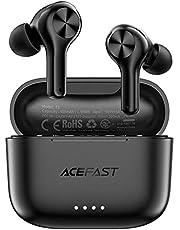 ACEFAST ワイヤレスイヤホン ノイズキャンセリング ブルートゥースイヤホン マイク4本内蔵 Bluetooth 5.0 自動ペアリング 瞬時接続 超低遅延 左右分離型 片耳/両耳 最大25時間音楽再生 Type‐C充電対応 IPX6防水 TELEC認証済 iPhone/Android対応