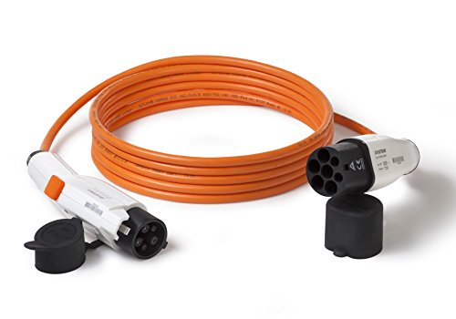 Preisvergleich Produktbild Ladekabel f. Elektroauto Typ 2 auf Typ 1 (Duosida) / 32A / 1-phasig / 5m Länge / z.B. Nissan Leaf,  Mitsubishi Outlander