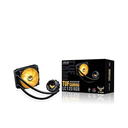 ASUS TUF Gaming LC 120 - Sistema de refrigeración líquida Todo en uno con Aura Sync y un Ventilador de radiador TUF RGB de 120 mm, Color Negro