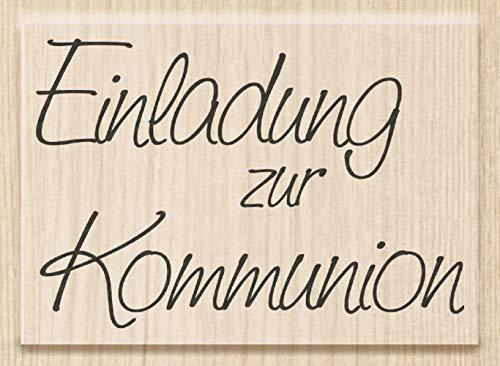 Knorr Prandell 211800100 Knorr prandell 211800100 Stempel aus Holz (Kommunion & Konfirmation) Motivgröße 6,1 x 4,2 cm , Motiv: Einladung zur Kommunion