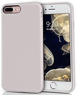 MILPROX Silicone Case, Pretty Series Liquid Silicone Gel Rubber, Shockproof Case with Microfiber Cloth Lining Cushion for iPhone 7 Plus/8 Plus - Light Purple