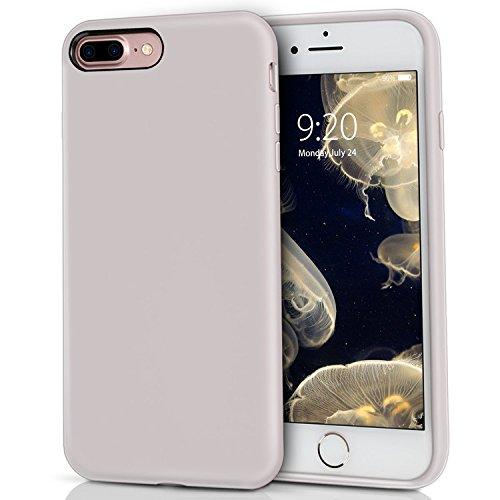 Preisvergleich Produktbild iPhone 8 Plus Silikon Hülle,  iPhone 7 Plus Silikon HülleMILPROX Silikon-Handyschale,  Nette flüssige Silikons,  stoßsicheres Futter aus Mikrofaser,  geeignet für iPhone 7 Plus / 8 Plus-Licht violett