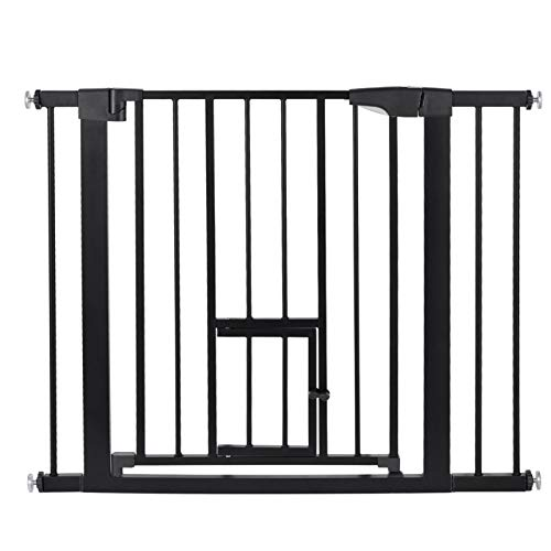 flouris Safety Gate for Doors and Stairs, Practical carbon steel Gate for baby Pressure Fit Safety Gate - Large Safety Door Fence Secure for Pet Toddler Dog Stair Way Safety