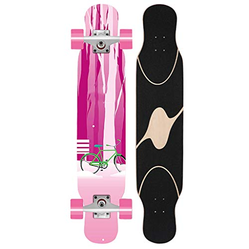 Why Should You Buy YQQ-MOTION Long Board Skateboard 46 Inches Long Deck Maple Dancing Longboard Made for Adults, Teens and Beginner Design,is The Best Gift for Children
