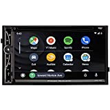 Power Acoustik CPA-70D Double DIN with 7-inch LCD, DVD, CD/MP3 Car Stereo w/Apple CarPlay and Android Auto with Built-in 4 Ch 300w Class A/B Full Range Speaker Amplifier